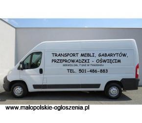 Przeprowadzki domowe, przewóz - transport mebli, gabarytów z Ikea, Castorama - Oświęćim